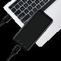 LOGILINK USB-C M-M STOFKABEL SORT 0.3M