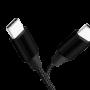 LOGILINK USB-C M-M STOFKABEL SORT 1M