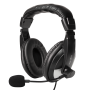 LOGILINK STEREO HEADSET M/MIKROFON USB SORT