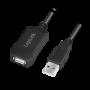 LOGILINK USB 2.0 AKTIV FORLÆNGERKABEL 5M