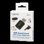 LOGILINK USB-A LYDKORT 3-PIN 3.5MM JACK