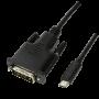 LOGILINK USB-C/M - DVI-D/M KABEL 3M
