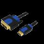 LOGILINK HDMI-A/M - DVI/M KABEL 2M